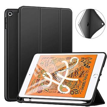 Ztotop Funda para iPad Mini 5ª generación 2019, Ultra Delgada Smart Case Cover Carcasa con Soporte Incorporado de Pencil- Ligero, Función de ...