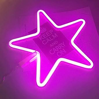 AIZESI Stern Lampe LED Deko Leucht Sterne Nachtlicht Violett ...