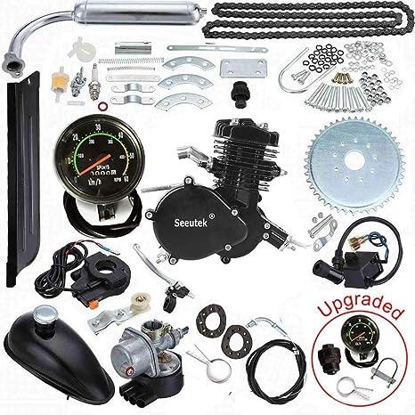 Seeutek 80cc Kit de motor para bicicleta tipo bicimoto. Motor de gasolina de 2 tiempos