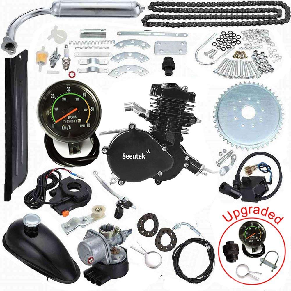 Seeutek 26 or 28 80cc Bike Bicycle Motorized 2 Stroke Cycle Motor Engine Kit Set