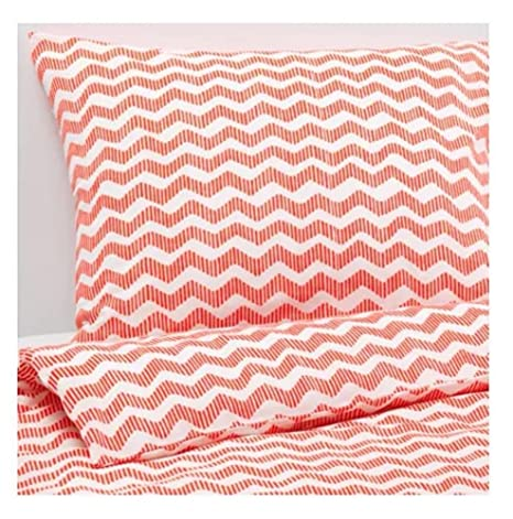 Ikea Sommar 2016 Twin Duvet Cover and Matching Pillowcase, Orange
