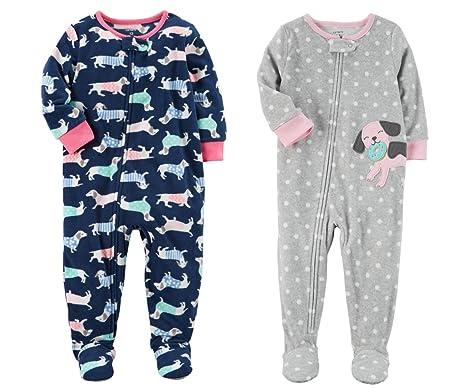 2353a442c Carter Baby Toddler Girl 2 Pack Fleece Footed Pajama Sleep and Play ...