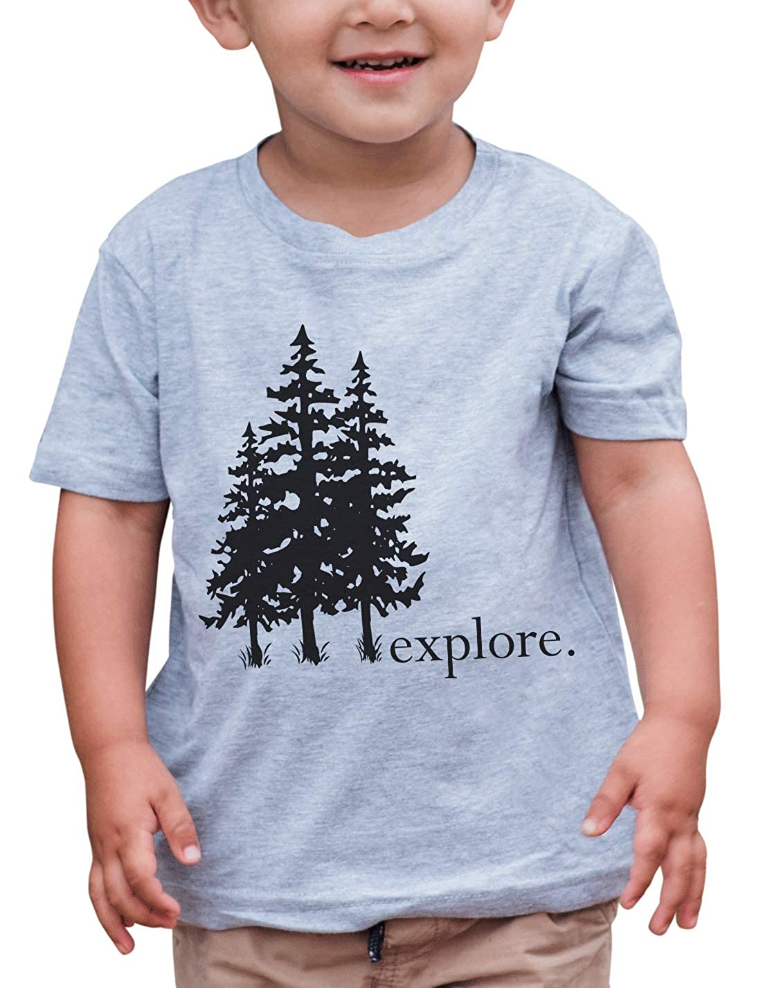 7 ate 9 Apparel Kids Explore Trees Outdoors T-Shirt