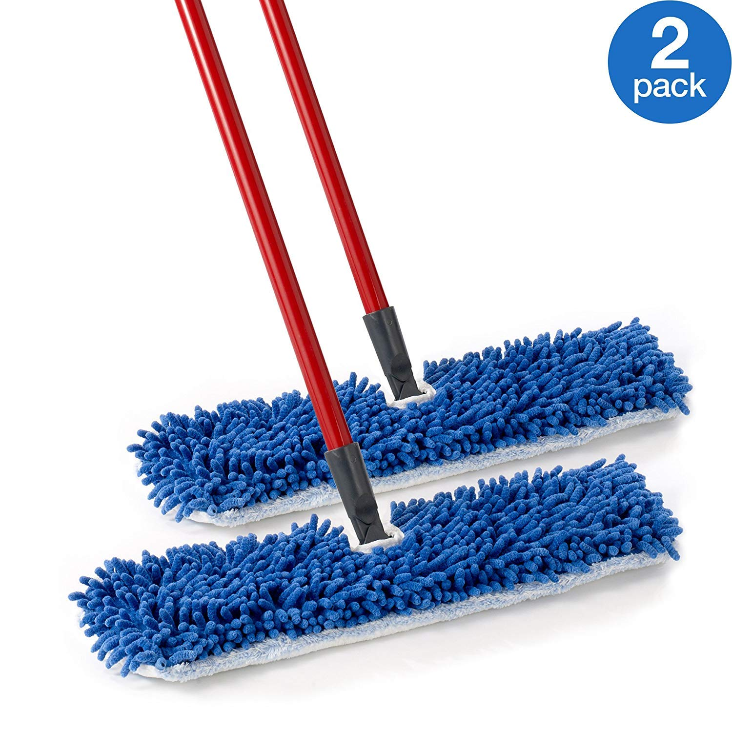 O-Cedar Dual Action Microfiber Flip Mop Damp/Dry All Surface Mop (Pack of 2) by O-Cedar
