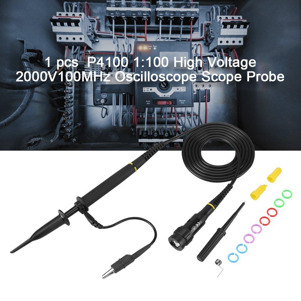 Oscilloscope Clip Probe 1pc P4100 100X High Voltage 2KV Oscilloscope Clip Probe 100MHz Bandwidth