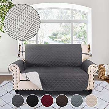 RHF Anti-slip Loveseat Cover for Leather Sofa, Pet Cover for  Loveseat,Slip-Resistant Loveseat Slipcover&Protector for Dogs-Features  Anti-slip Pad and ...