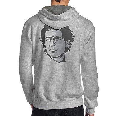57e7b60e34e Amazon.com  NEST-Homer Men s Hoodies Ayrton-Senna Pullover Sweatshirt Gray  Hooded Jackets  Clothing