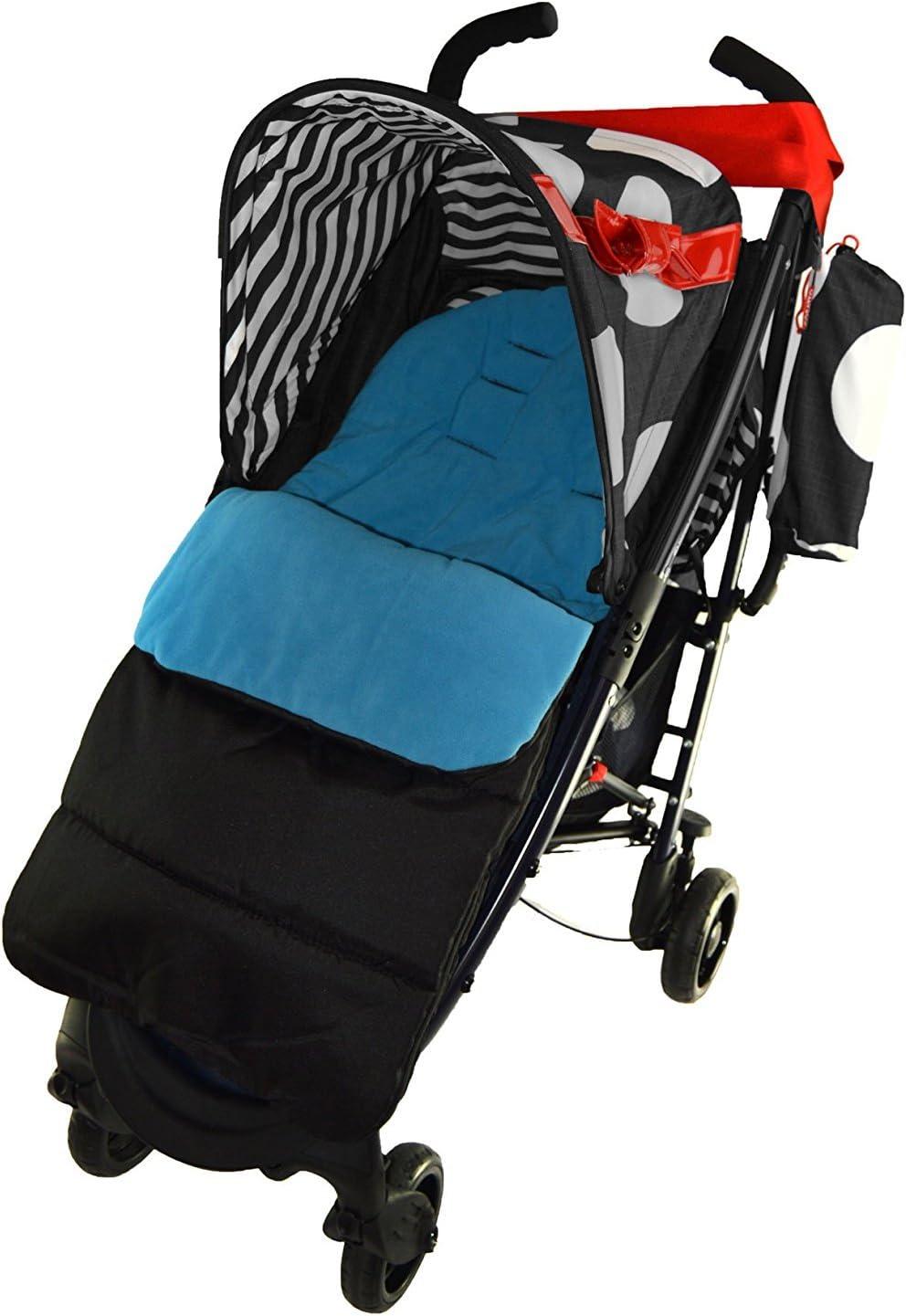 Footmuff//Cosy Toes Compatible with Maclaren Quest Sport Pushchair Ocean Blue