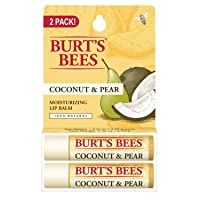 Burt's Bees 100% Natural Moisturizing Lip Balm, Coconut & Pear, 2 Tubes in Blister Box (I0082806)