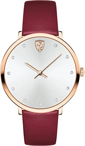Buy Scuderia Ferrari Donna Analog White Dial Women S Watch 0820022 At Amazon In