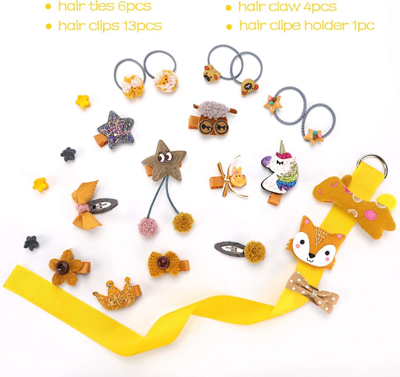 Juego de 24 horquillas para el pelo para niñas y bebés, con diseño ...