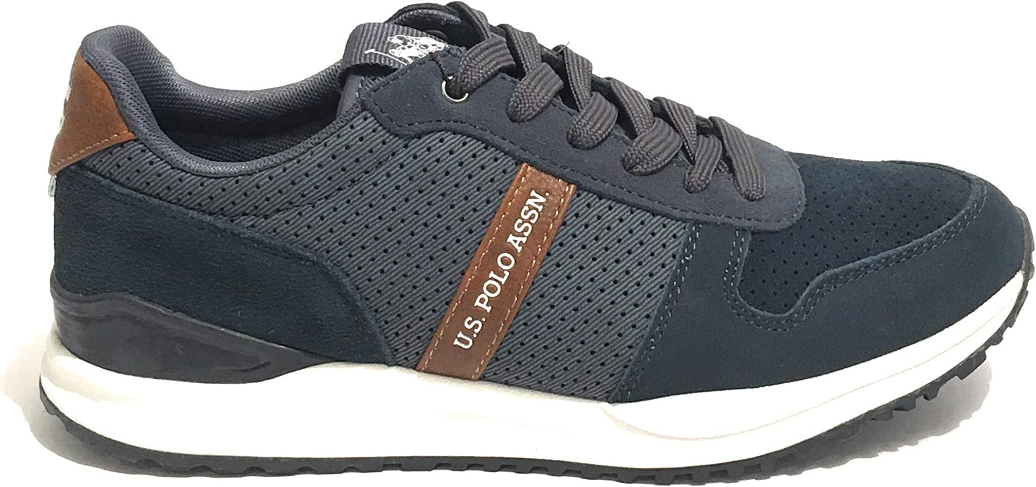 Sneaker Running US Polo Uomo Mod. Edward in Suede E Tessuto Colore ...