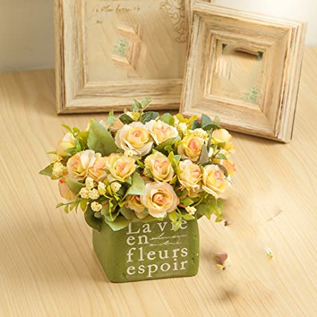 Amazon Xhopos Home Artificial Flowers Bonsai Ceramic Vases