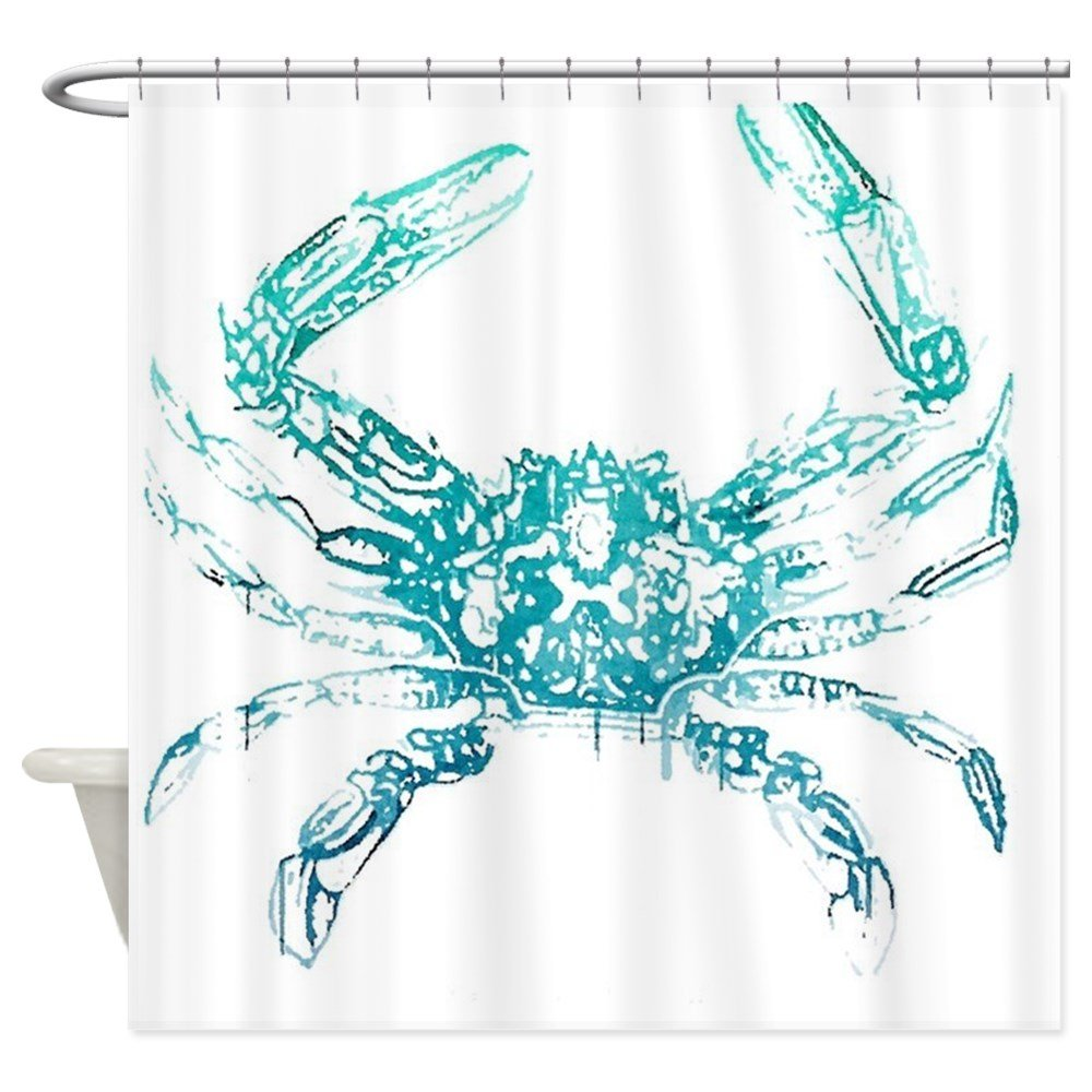 Amazon CafePress Coastal Nautical Beach Crab Decorative Fabric Shower Curtain 69x70 Home Kitchen