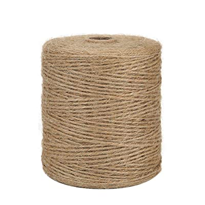 Tenn Well Natural Jute Twine, 3Ply 984Feet Arts and Crafts Jute Rope Industrial Packing Materials Packing String for Gifts, DIY Crafts, Decoration, Bundling, Gardening and Recycling : Office Products
