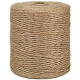 Tenn Well Natural Jute Twine, 3Ply 984Feet Arts and Crafts Jute Rope Industrial Packing Materials Packing String for Gifts, D