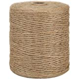 Tenn Well Natural Jute Twine, 3Ply 984Feet Arts and Crafts Jute Rope Industrial Packing Materials Packing String for…