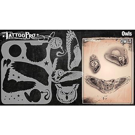 Tatuaje Pro Plantillas Serie 3 - búhos: Amazon.es: Hogar