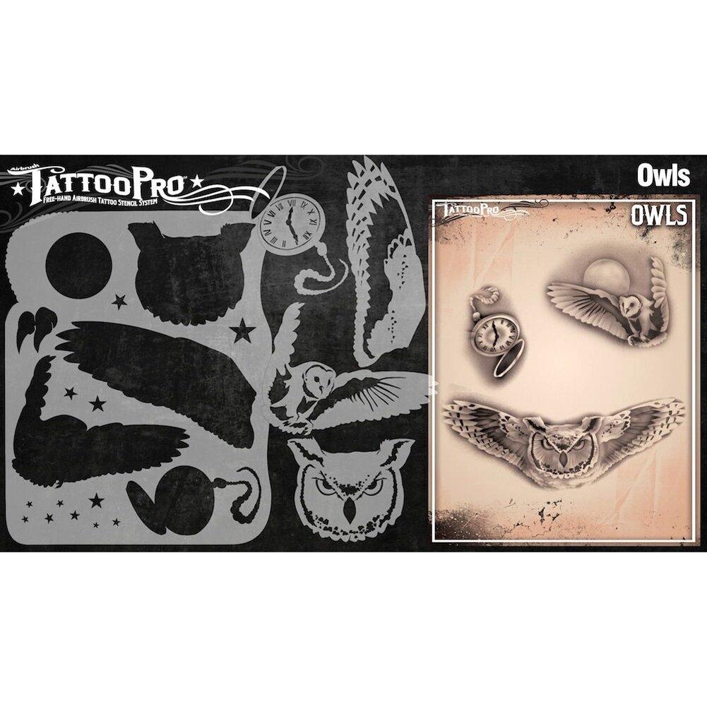 Owls Tattoo Pro Stencils Series 3  Mermaid
