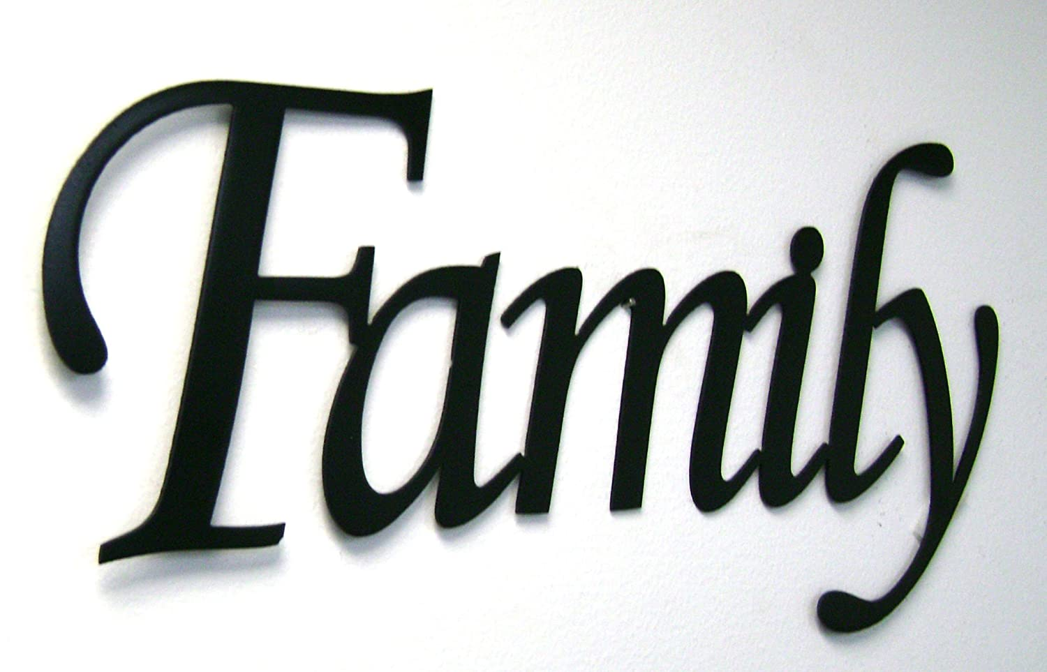 Amazon.com: Family Word Sign Monotype Font Home Decor Metal Wall Art: Home  U0026 Kitchen