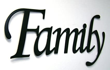 Superb Family Word Sign Monotype Font Home Decor Metal Wall Art