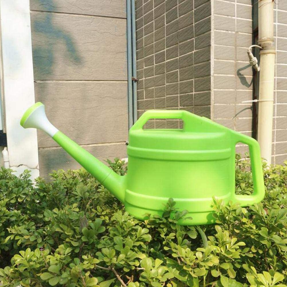 SNIIA 2.5L Plant Watering Can Plastic Garden Watering Pot with Green Rose Head,Watering Bottle Watering Kettle Sprinkler With Long Spout