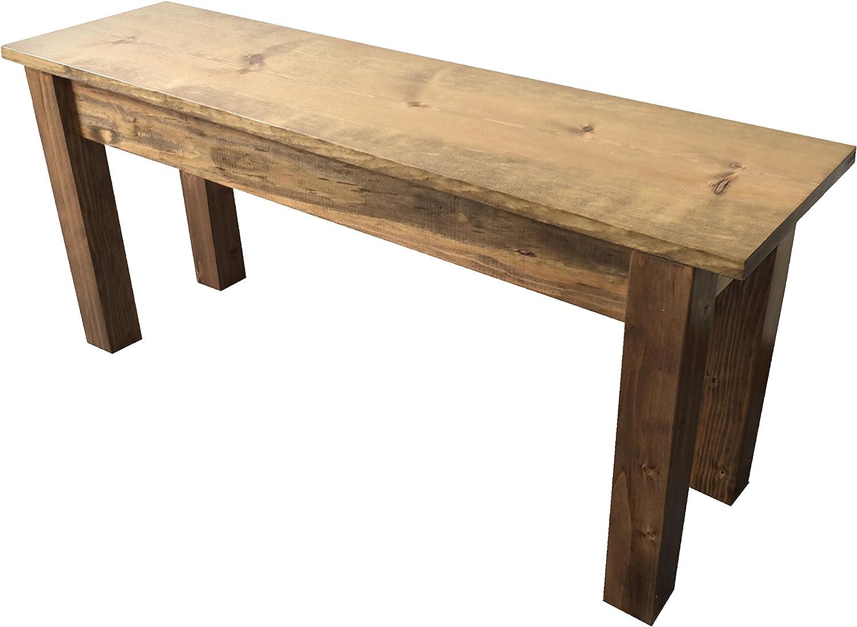 "Amazon.com: Lancaster Farmhouse Bench (30""): Kitchen & Dining"