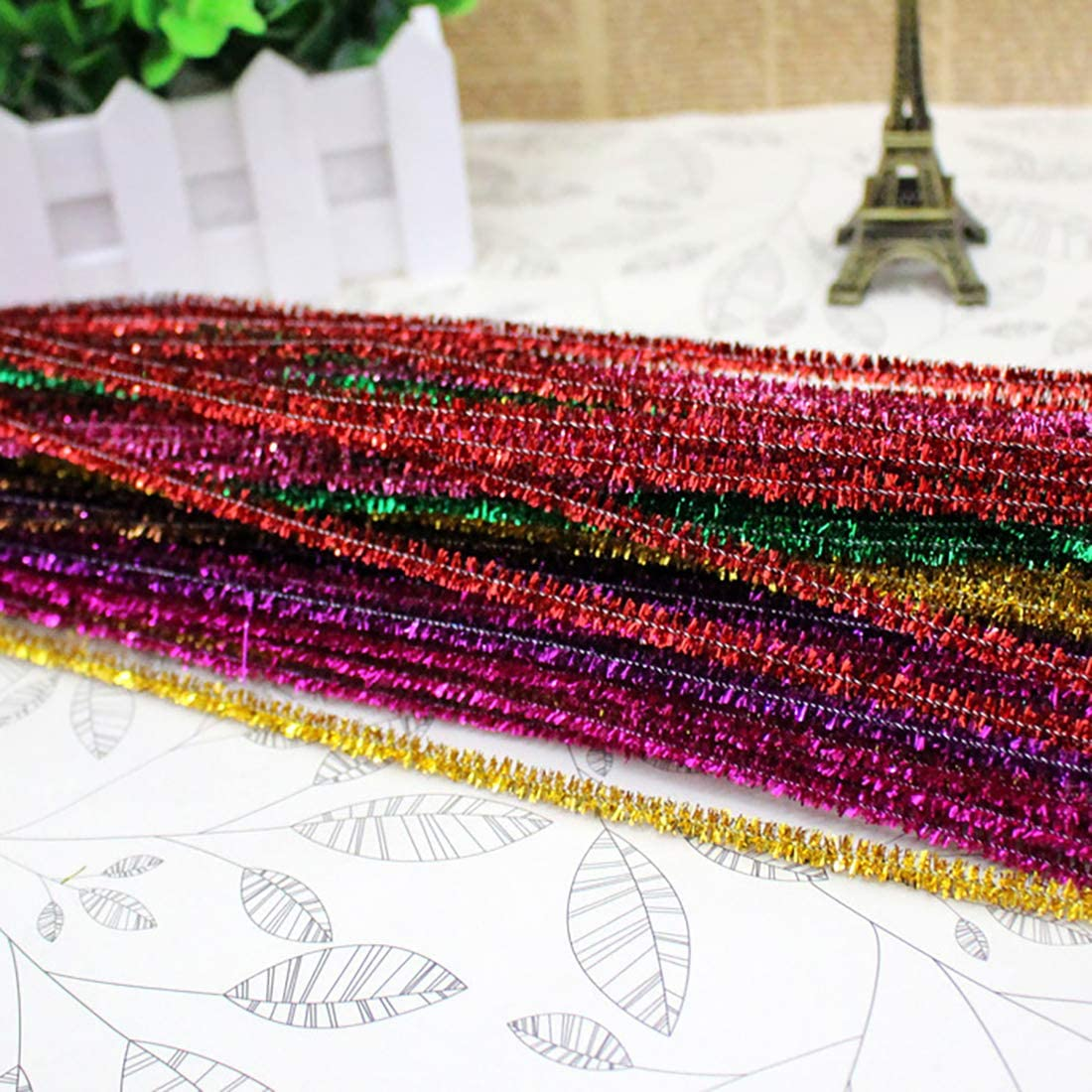 Pipe Cleaners 6mm x12inches 400 Pcs Chenille Stems in 10 Colors for DIY Arts and Craft Project Decoration,