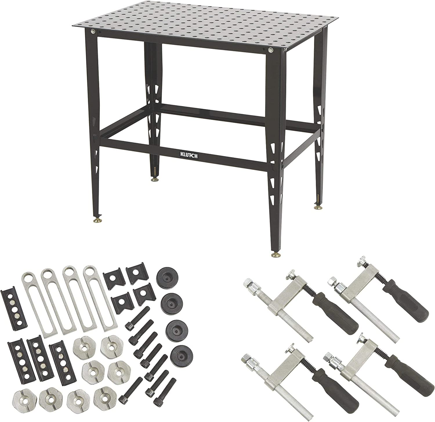 Klutch Steel Welding Table with Tool Kit - 36in.L x 24in.W x 33 1/4in.H - -