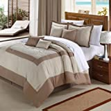 Amazon Price History for:Chic Home Seashell 8-Piece Comforter Set, King, Taupe