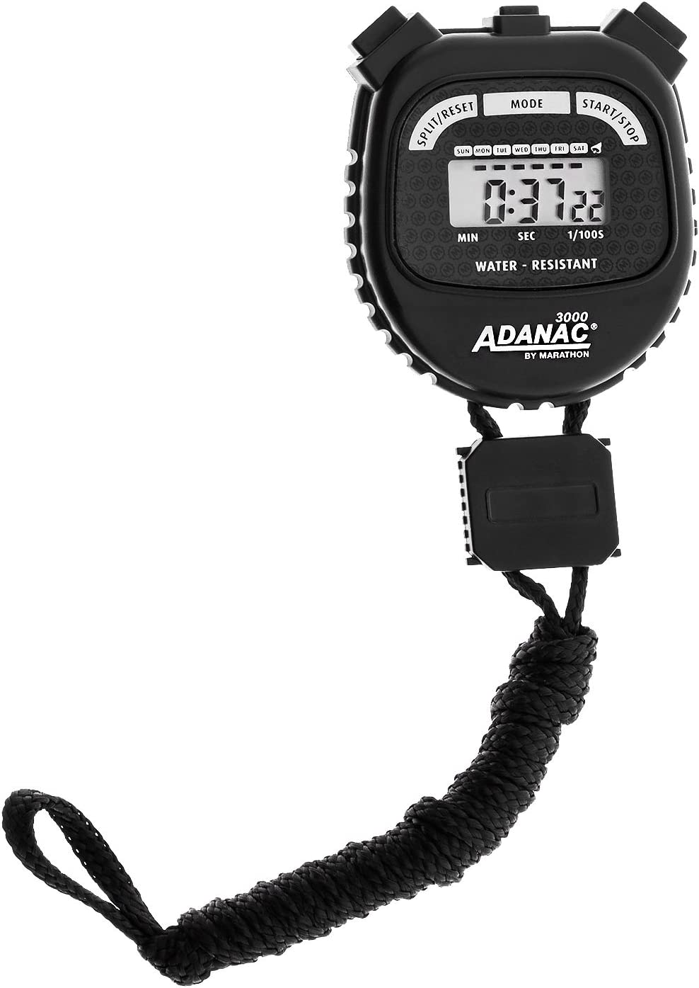 Marathon ADANAC 3000 Digital Stopwatch Timer, Water Resistant, Battery Included