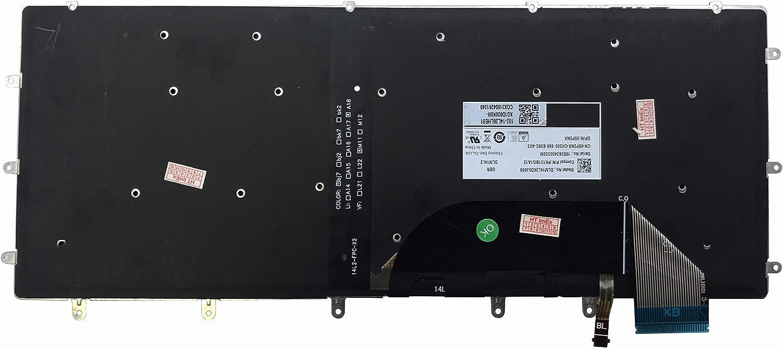9560-GPRDR 15 QWERTZ ohne Rahmen 5520-VNJH6 9550-4952 Deutsche 15 9550-4853 15 mit Beleuchtung 15 - Tastatur Keyboard f/ür Dell XPS 15 9550-5187