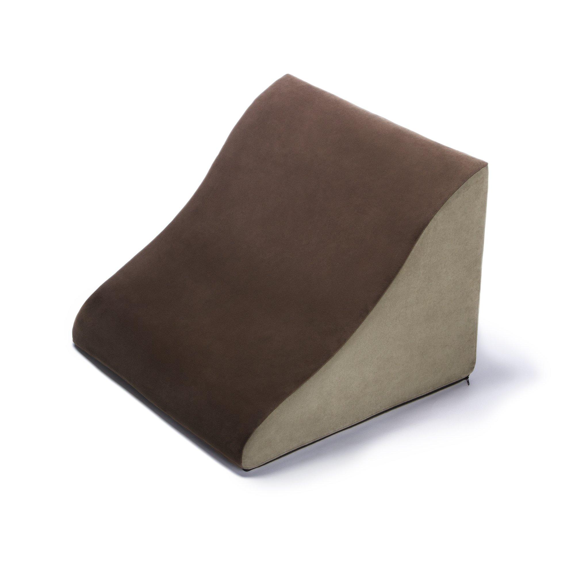 Avana Back Rest Memory Foam Back/Lumbar Pillow, Mocha/Sage