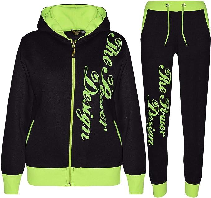 Kids Tracksuit Boys Girls Designer The Power Design Top Bottom Jogging Suit 5-13