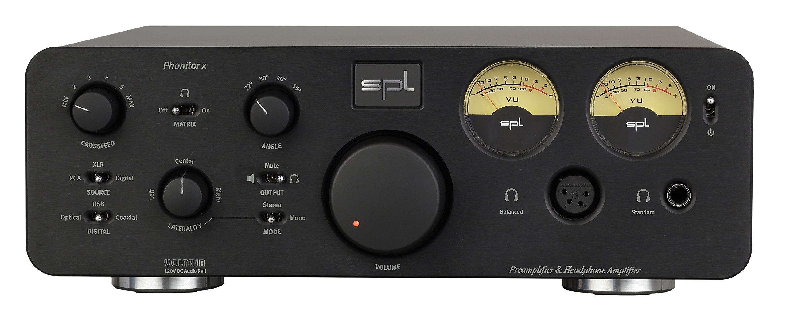 SPL Phonitor x balanced Headphone Amp/Preamp with 24bit/192 DAC (Black)