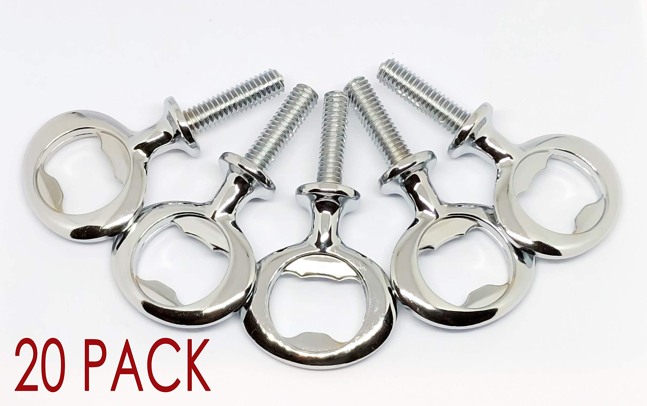 Chrome Bottle Opener Hardware Kit for Wood Turning 20 Pack by C and C Stock