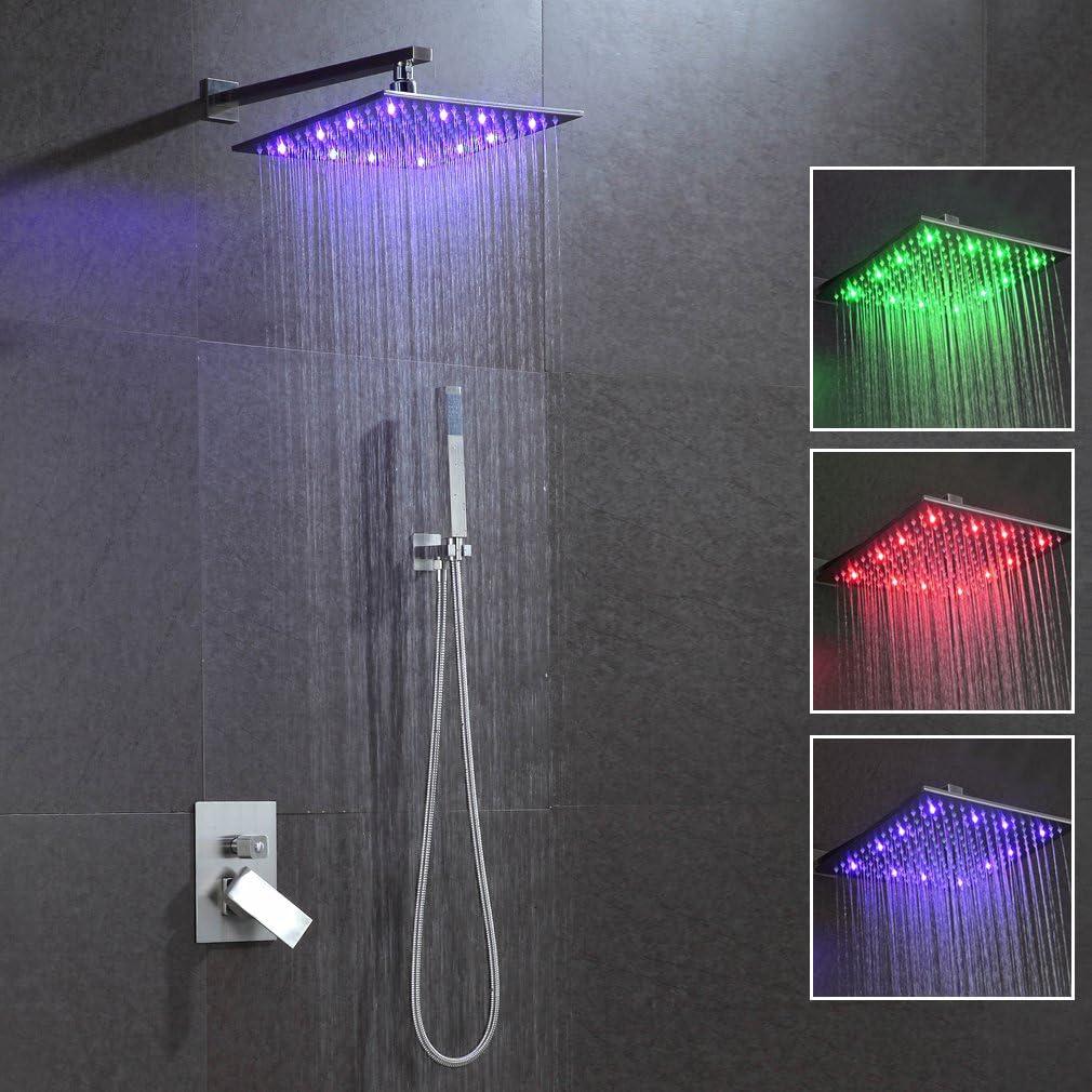 kaibor Kit de columna de ducha LED RGB conjunto de bañera de ducha ...