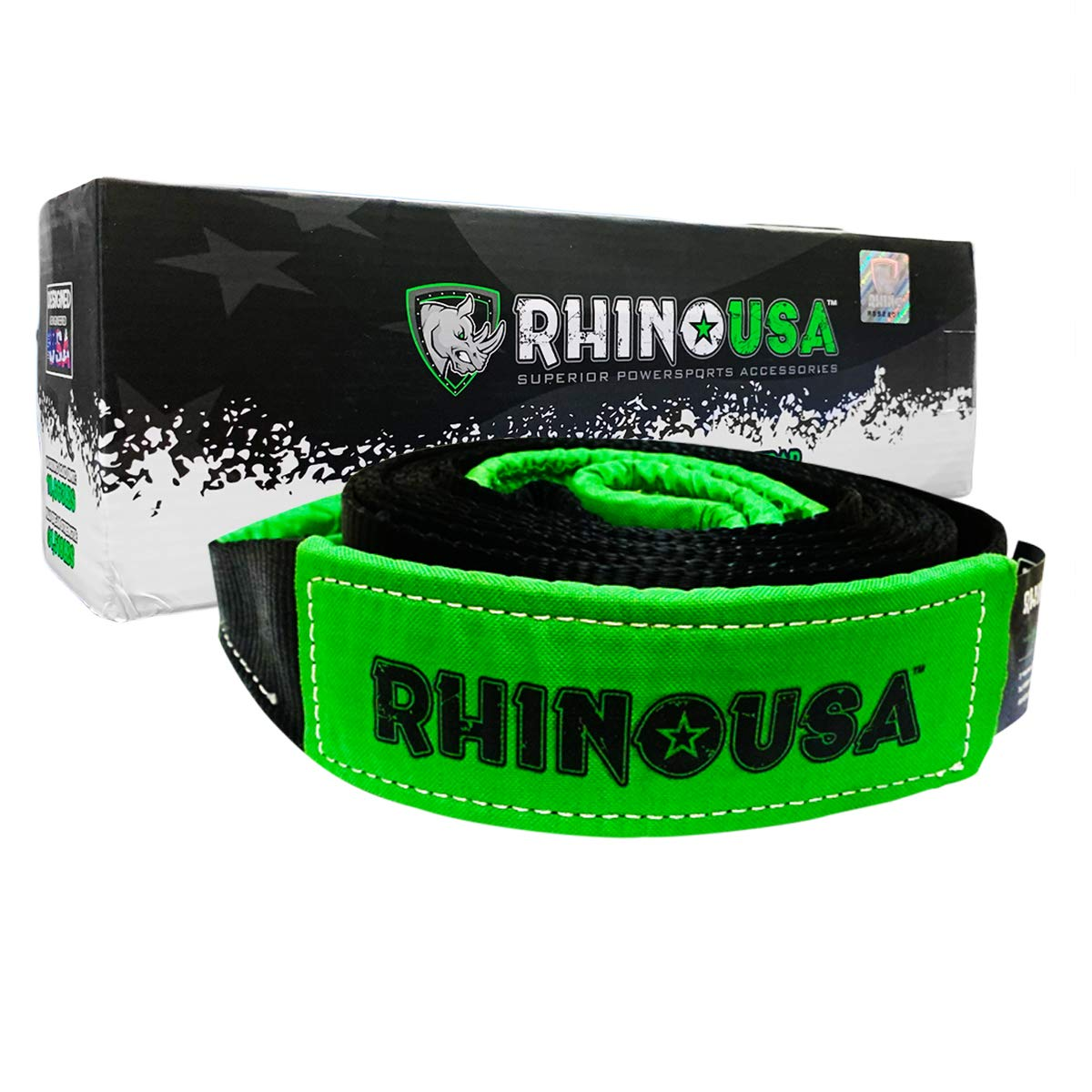 Rhino USA Tree Saver Winch Strap 3 inch x 8 Foot - Lab Tested 31,518lb Break Strength - Triple Reinforced Loop End to Ensure Peace of Mind - Emergency Off Road Recovery Tow Rope - Unlimited Warranty! by Rhino USA