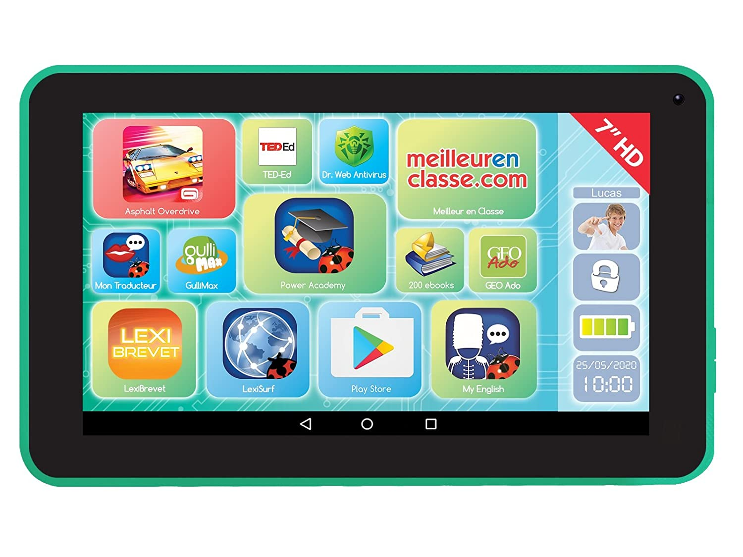 'lexitab 7 – Tablet Touchscreen Kinder, Inhalt lehrreich und Witziger Kontrolle Parental – Android, Wifi, Blautooth, Google Play, Youtube – Ref. mfc147