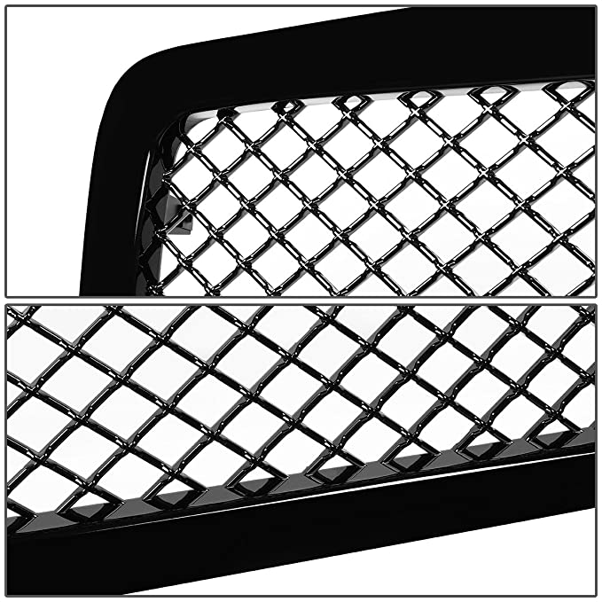 amazon for dodge ram diamond mesh front upper bumper grille Silverado 1500 HD Makeup amazon for dodge ram diamond mesh front upper bumper grille guard glossy black br be 2nd gen automotive