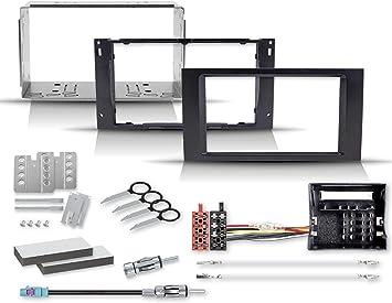 Kit de montaje con marco de radio 2 DIN Quadlock a ISO, adaptador de antena con alimentación fantasma.: Amazon.es: Electrónica