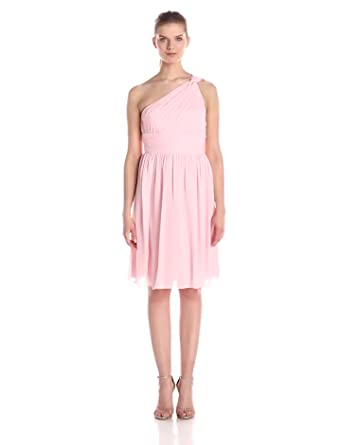 e6957bced218 Donna Morgan Women's Rhea Short One Shoulder Dress at Amazon Women's ...