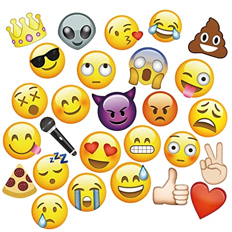image regarding Printable Emoji Photo Booth Props titled MOT Worldwide Emoji Photograph Booth Props - 27 Elements Get together Kits Photograph Booth Props for Marriage Birthdays Reunions (Diameter Up In direction of 7.87\