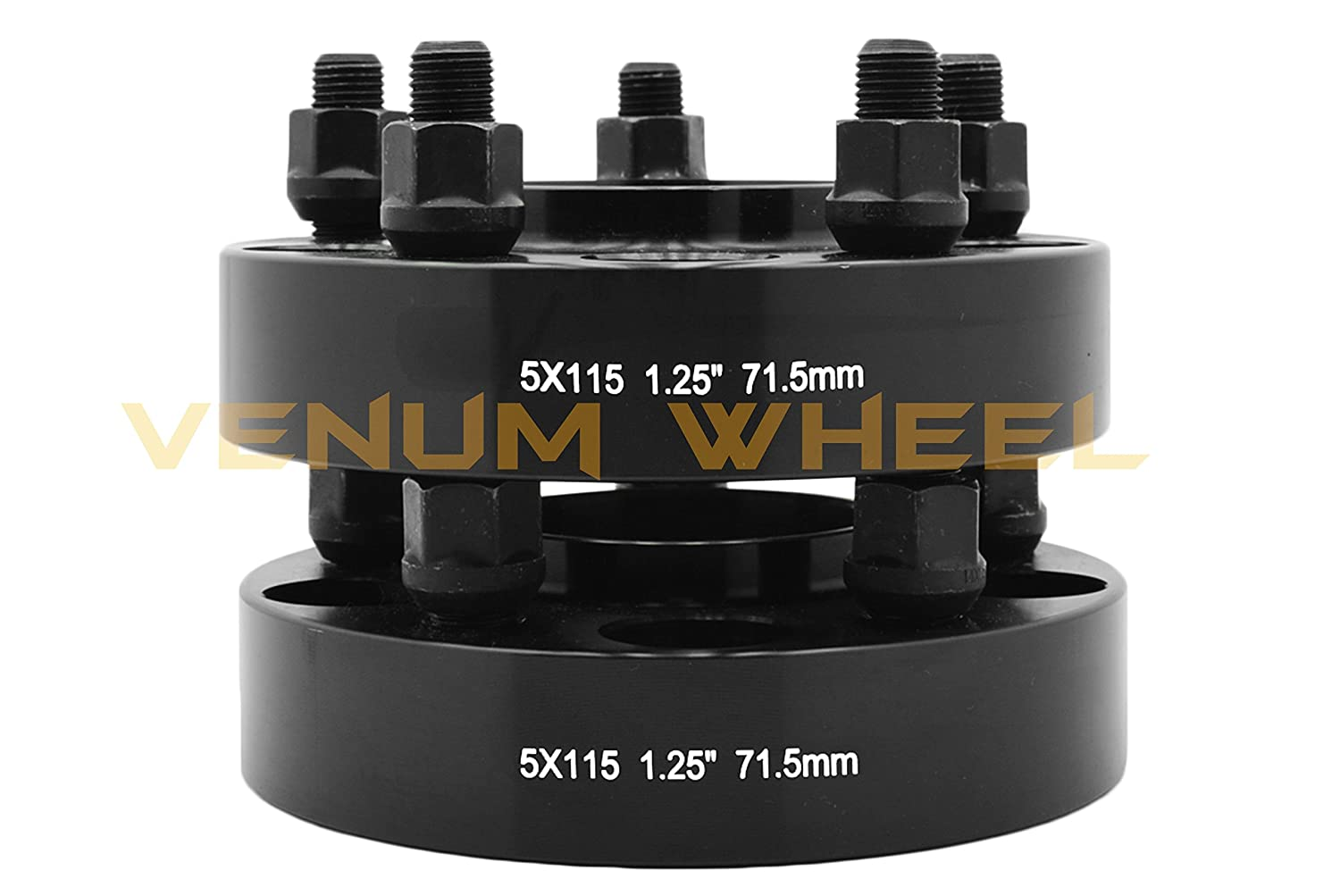 | 71.5 MM Hub M14x1.5 Studs 31 MM Hellcat Demon Srt-8 Scatpack R//T S//E L//X Models Fits Dodge Charger Challenger Magnum 4 Pc 5x115 MM Black Hub Centric Wheel Spacers Adapters 1.25 Thick