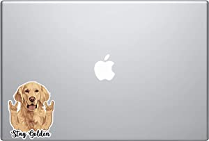 Laptop Notebook Sticker Decal Skins - Stay Golden Golden Retriever Funny Hang Loose arms Skins Stickers