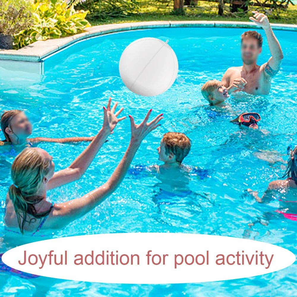 Event Party as Mood Lights-1PC Esuper Solar LED Lights Inflatable Patio Decorative Night Light 13 Floating Pool Lights Waterproof 4 Color Changing Hangable Ball Light for Pond Pool Beach Wedding