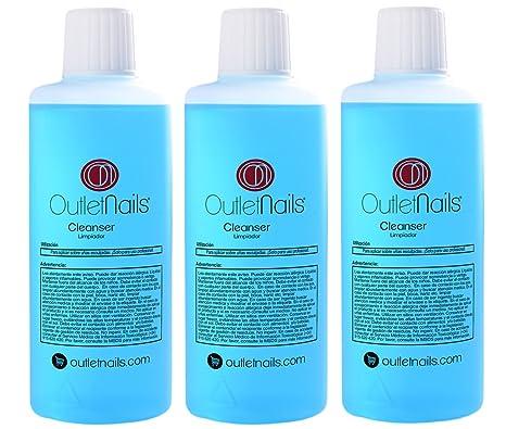 3 x Cleaner para Gel 100ml Aroma Coco Azul - Eliminar la capa pegajosa de geles