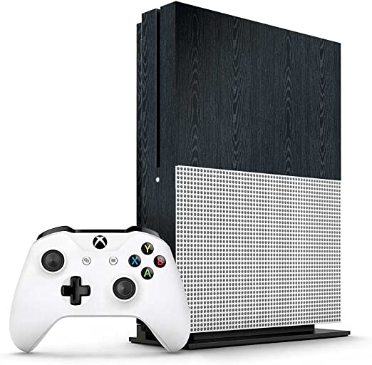 Xbox One S Stained Dark Wood Console Skin / Cover/ Wrap for ...