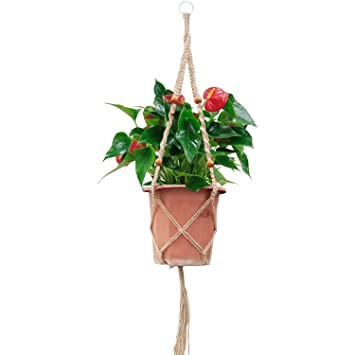 OFFIDIX Retro DIY Makramee Pflanze Kleiderbügel Blumentopf Hanging ...