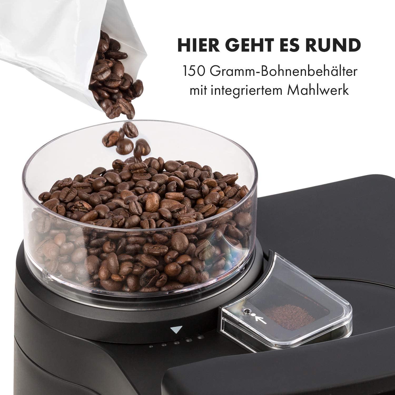 Kaffeemaschine mit Mahlwerk und Thermoskanne Bohnenbehälter
